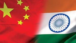 भारत-चीन का झंडा