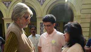 अमिताभ बच्चन-पीकू के सेट पर