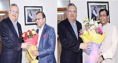 विवेक ढांढ व अजय सिंह सीएम से मिले
