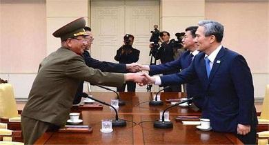 नार्थ कोरिया व साउथ कोरिया के बीच बातचीत