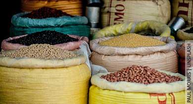 दाल चावल अनाज का बाजार और भारत